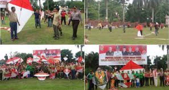 Layang-Layang Merah Putih Berterbangan di Bumi Palembang