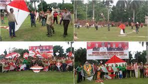 Festival layang-layang dalam rangka memeriahkan HUT Kodam II/ Sriwijaya ke 70