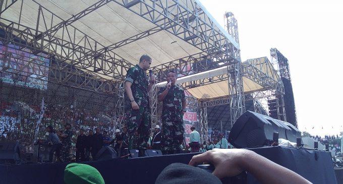 Grup Band Slank dan Narji Cagur Ramaikan Puncak HUT Kodam II/Sriwijaya