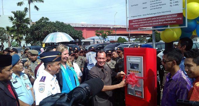 Palembang Kota Pertama Terapkan Mesin Parkir Meter di Sumatera