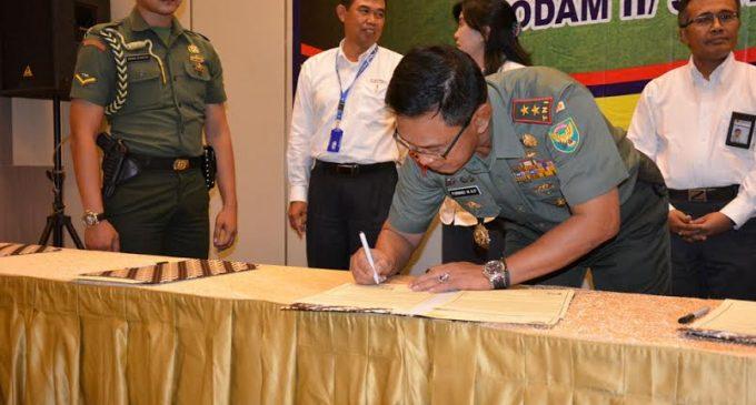 Kodam II/Sriwijaya Jalin MoU Dengan PLN (Persero)