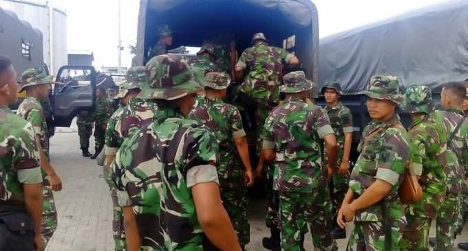 Satgas Penanggulangan Banjir Yonif 200/Raider di Babel Tiba di Home Base