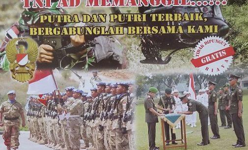 Kodam II/Sriwijaya Buka Penerimaan Calon Bintara PK TNI AD TA 2016