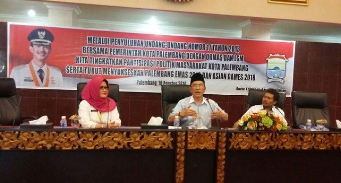 Sosialisasikan UU No.17 2013 Kesbangpol Palembang Paling Produktif Sosialisasi