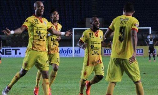 Quatrick Gol Beto Hantarkan Sriwijaya FC Menang Telak
