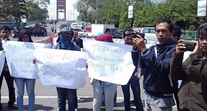 Aksi Solidaritas Jurnalis Palembang