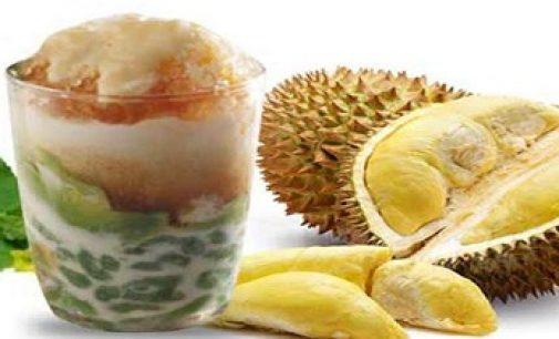 Minum Es Cendol Durian Penawar Dahaga
