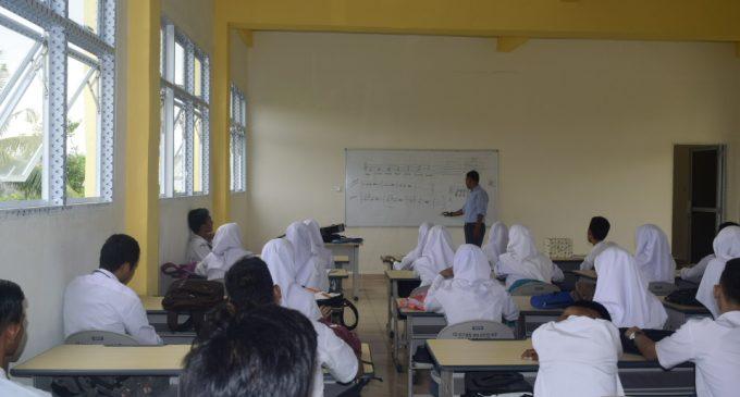 Sudah Dua Tahun KBM SMKN 8 Numpang di SMPN 7 Palembang