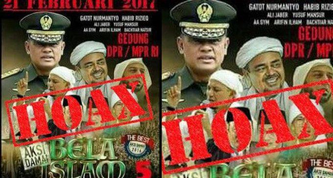 Mabes TNI Tegaskan Foto Panglima TNI Masuk Poster Aksi 212 Hoax
