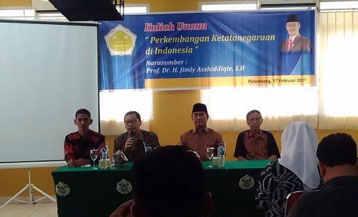 Kuliah Umum Unitas Palembang Hadirkan Prof. Dr. Jimly Asshiddiqi