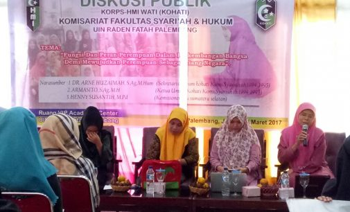 Diskusi Publik KOHATI UIN RF Angkat Persoalan Peran Dan Fungsi Perempuan Sebagai Tiang Negara