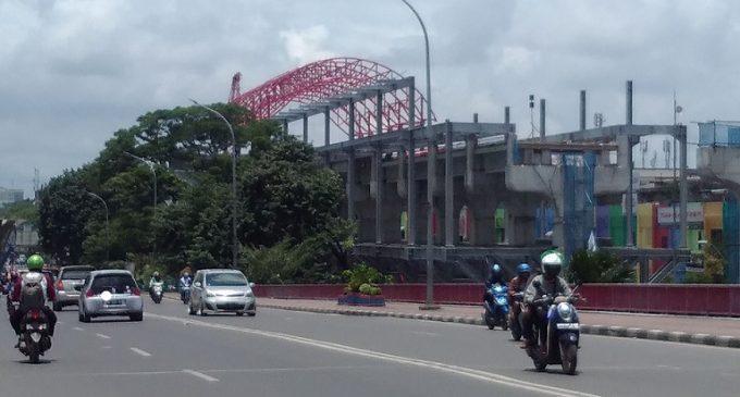 Proses Pembangunan Ramp LRT Ampera