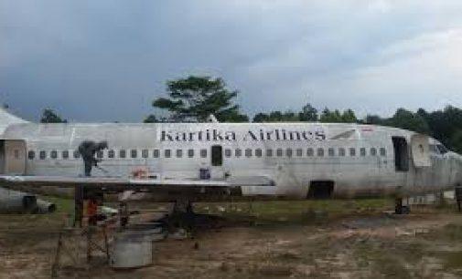 Kartika Airlines Jadi Objek Photo Selfi di Kampung Wisata Prabumulih