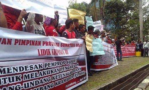 """Di PHK Sepihak, Buruh PT Bumi Rambang Kramajaya """"Ngadu"""" Ke DPRD Sumsel"""