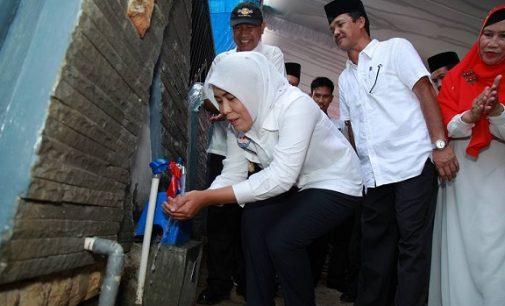 Warga Perumahan Griya Sumsel Sejahtera Nikmati Air PDAM
