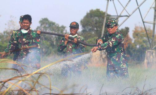 Pangdam II/Sriwijaya Ikut Padamkan Api di Kabupaten Ogan Ilir