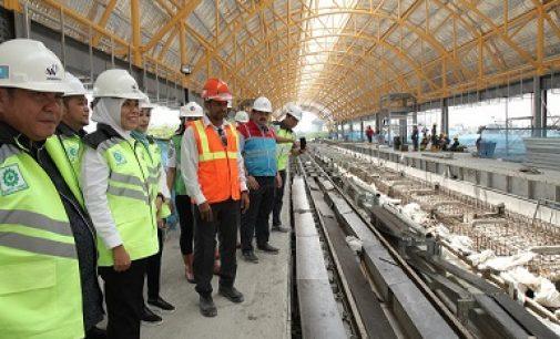 Kagum Melihat Pembangunan LRT Diatas Lantai Tiga