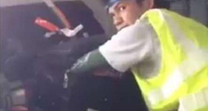 Aksi Pencurian Koper di Bagasi Pesawat Viral di Medsos