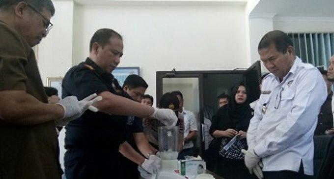BNN Sumsel Musnahkan BB 489 Gram Sabu Asal China