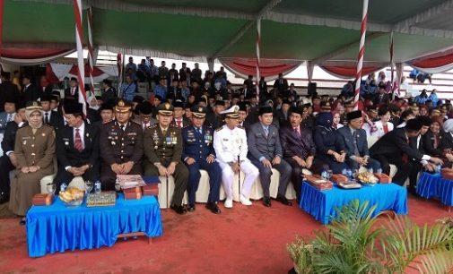 Walikota Palembang Semprot Peserta Upacara