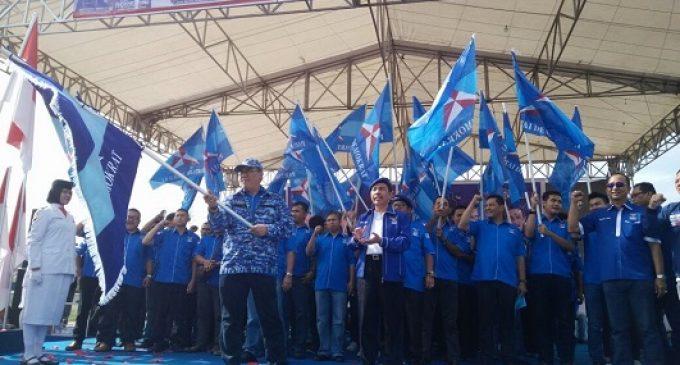 Ribuan Masyarakat Tanjung Enim Hadiri Pelantikan DPC Partai Demokrat