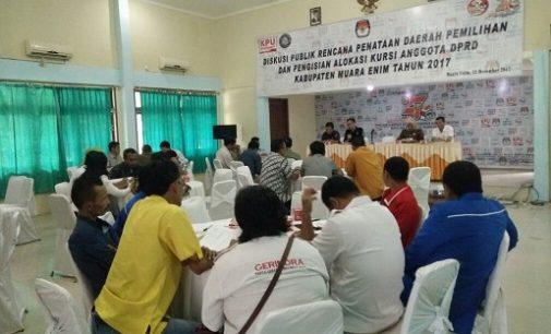 KPUD Muara Enim Adakan Diskusi Penataan Dapil Pemilu 2019