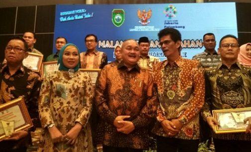Malam Anugrah Keterbukaan Informasi Publik, Pemkot Palembang Raih Dua Penghargaan Sekaligus