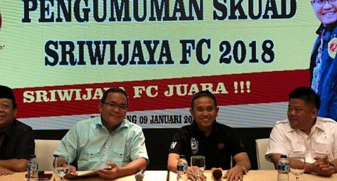 Inilah Punggawa Sriwijaya FC Musim 2018