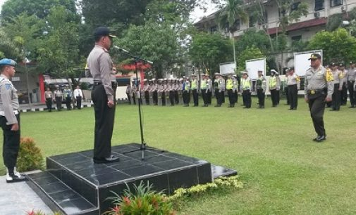 Polres Muara Enim Gelar Upacara Latihan Pra Operasi Mantap Praja  2018