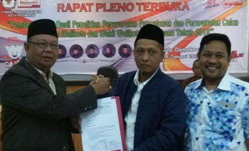 Empat Bapaslon Wako Palembang Lulus Tes Kesehatan