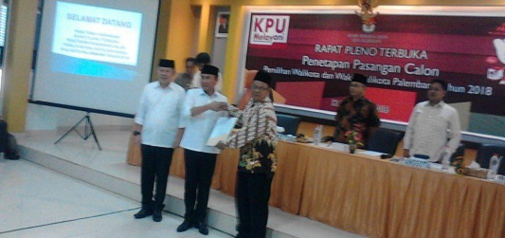 KPU Tetapkan 4 Pasangan Calon Ikut Pilkada Palembang