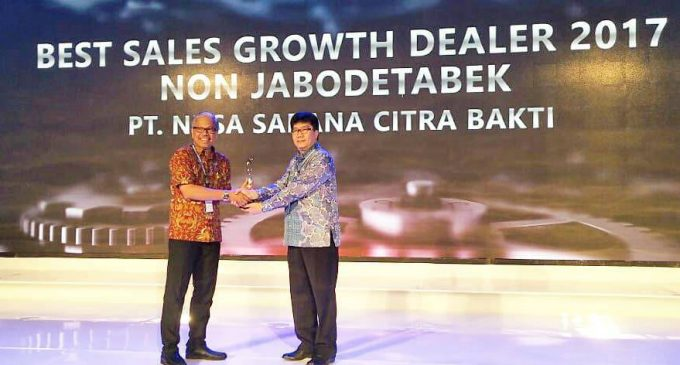 PT. NSCB Sumsel Raih Penghargaan Best Sales Growth Dealer 2017 Non Jabodetabek