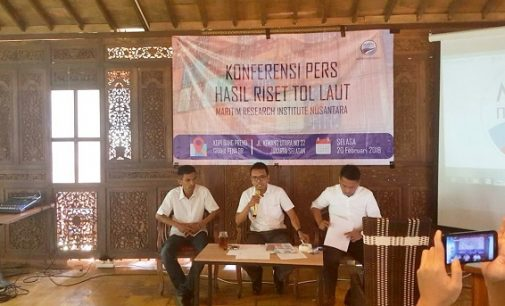 MARIN Nusantara : Presiden Perlu Menginisiasi Satgas Tol Laut