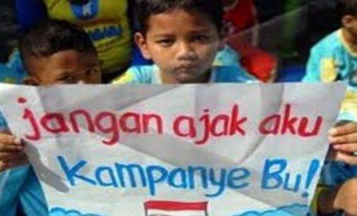 Jangan Libatkan Anak Dalam Kegiatan Kampanye
