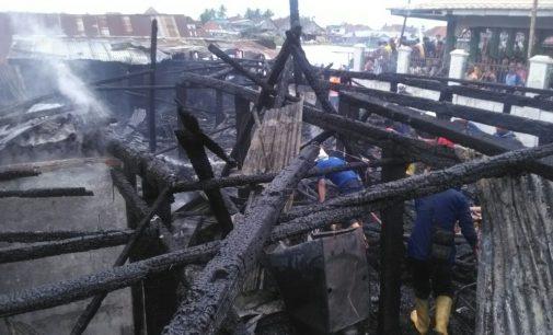 Kebakaran di Kelurahan Ogan Baru Hanguskan 1 Rumah Dan 6 Bedeng
