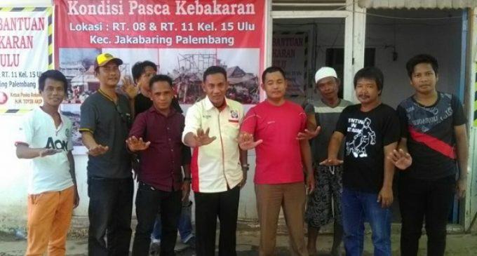 AMI Kota Palembang Bantu Korban Kebakaran di 15 Ulu