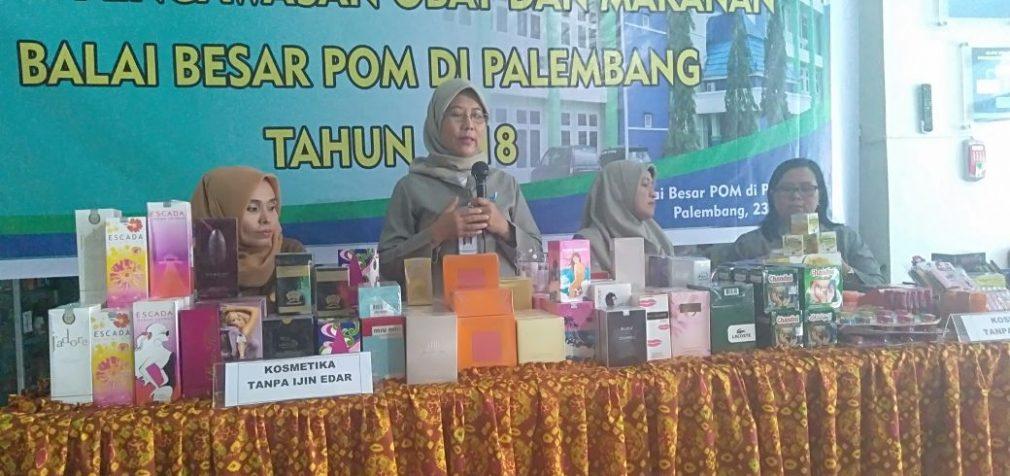 BPOM Palembang Sita 350 Produk Kosmetik Tanpa Izin Edar
