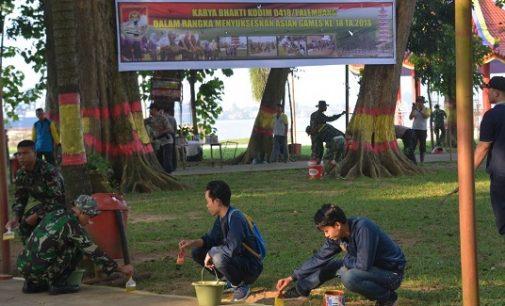 Kodim 0418/Palembang Gelar Karya Bakti di Pulau Kemaro