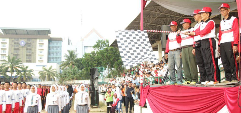 Ribuan Pelajar Se Kota Palembang Ikuti Lomba Gerak Jalan
