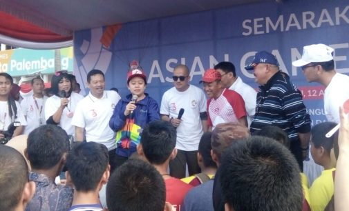 Lepas Jalan Sehat, Puan Minta Wong Kito Sukseskan Asian Games 2018