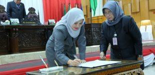 Sekda Hadiri Penetapan Plt Ketua DPRD Sumsel