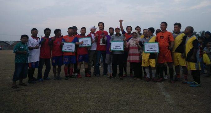 Pasar Tanjung Enim Juarai Laga Sepak Bola Gembira, PTBA Lawang Kidul