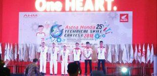 Teknisi Honda Sumsel Sabet Podium Astra Honda Technical Skill Contest 2018