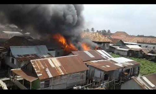 Kebakaran di Kertapati  Hanguskan Puluhan Rumah Penduduk
