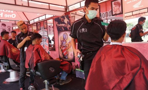 Ribuan Bikers Honda Se-Sumatera Kopi Darat di Palembang