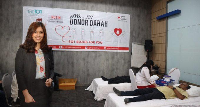 The 1O1 Palembang Rajawali Kembali Adakan THE 1O1 Blood  For You