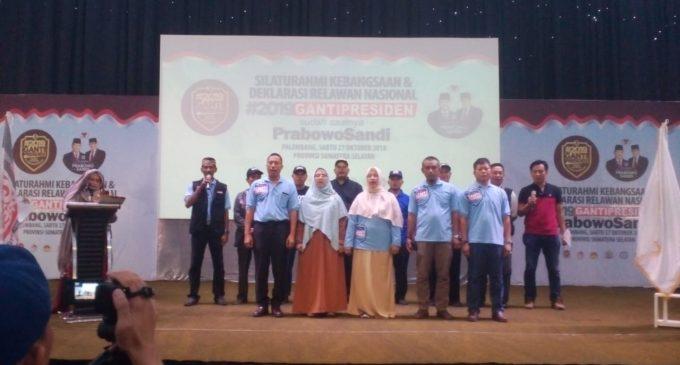 RGP Sumsel Gelar Deklarasi Relawan Nasional #2019 Ganti Presiden