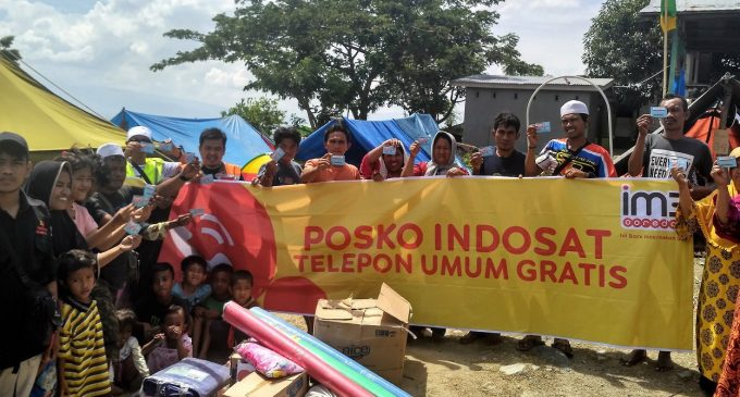 Jaringan Pulih Lebih dari 90%, Indosat Ooredoo Layani Masyarakat Palu Dan Donggala