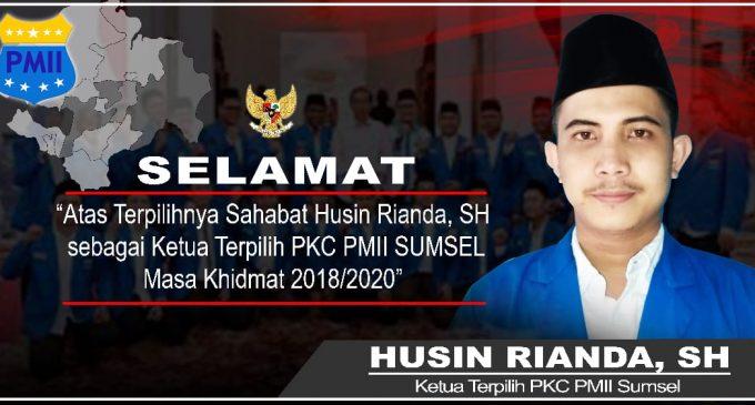 Husin Rianda, SH. Terpilih Secara Aklamasi Jabat Ketua PKC PMII Sumsel