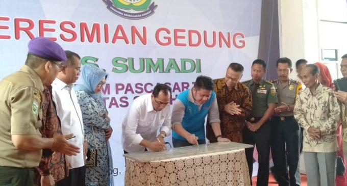 Nama Ayah Menhub Budi Karya Jadi Nama Gedung Pasca Sarjana Universitas Syakyakirti